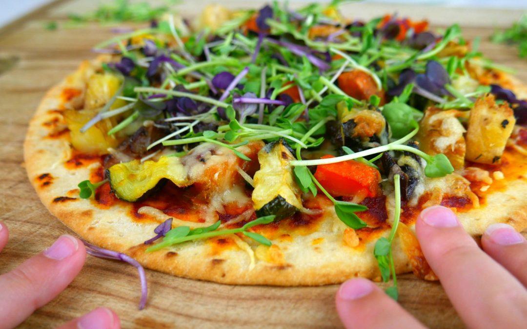 Pizza de Microverdes